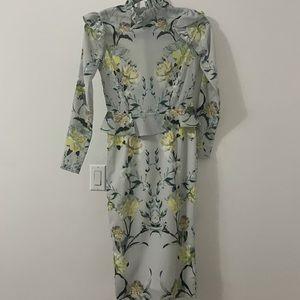 Floral Hope&Ivy MIDI long sleeve dress